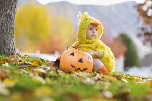MediaBakery_BXP0075158 Toddler in Halloween costume