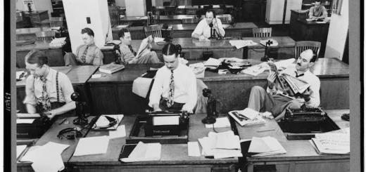 nytimes newsroom 1942 loc