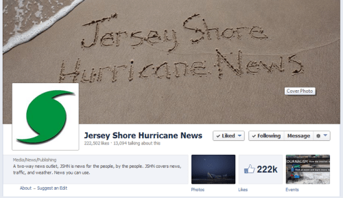 Jersey Shore Hurricane News on Facebook
