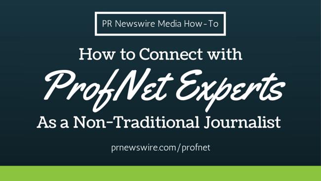 prn media how to profnet