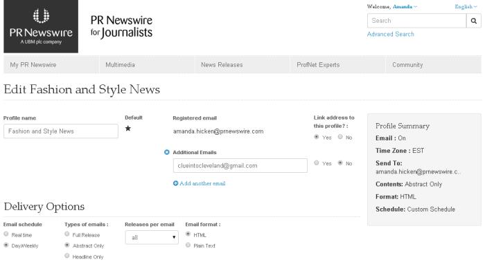 News feed screenshot 2