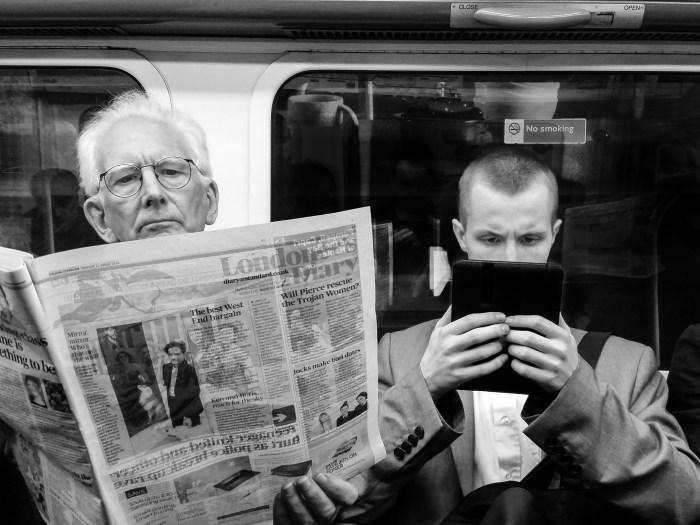News apps versus newspaper
