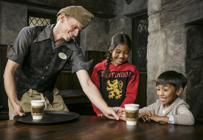 """Butterbeer served at """"The Wizarding World of Harry Potter"""""""