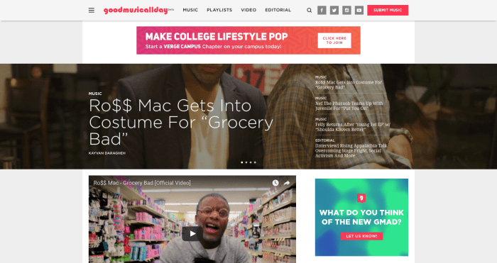 goodmusicallday-the-1-college-music-website