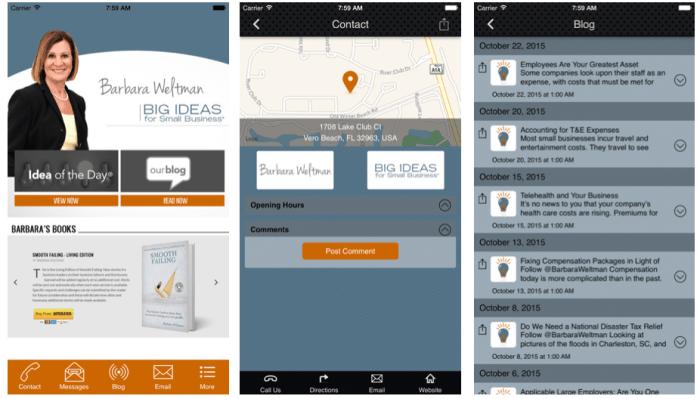 Barbara Weltman's Big Ideas for Small Business® App.