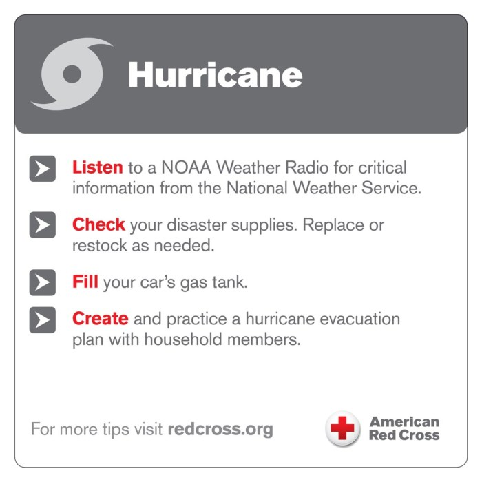 American Red Cross hurricane safety tips