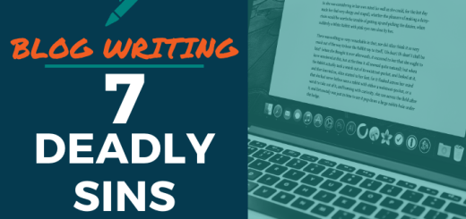 Blog Writing - 7 Deadly Sins