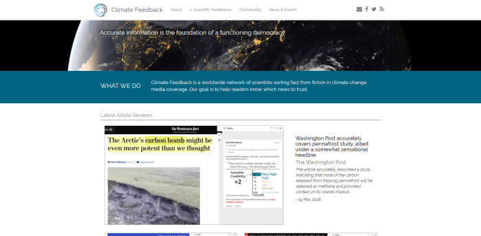 Scientific Reference to Reliable Information on Climate Change Climate Feedback