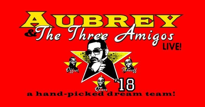 Aubrey & The Three Amigos Tour 2018
