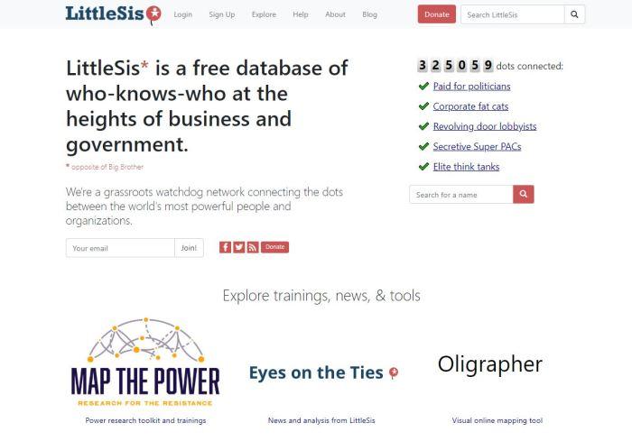 LittleSis Homepage