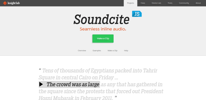 SoundciteJS Homepage