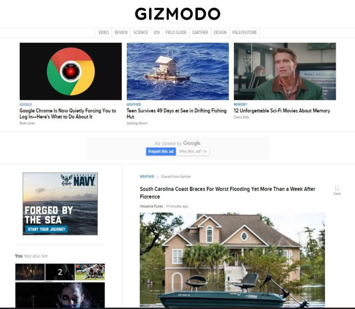 gizmodo.com homepage