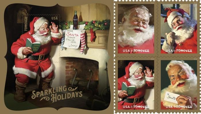US Postal Service Sparkling Holidays stamps