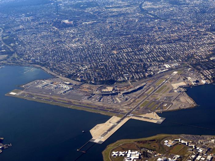 Aerial view of LaGuardia Airport