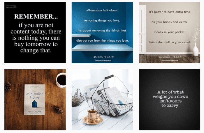 Decluttering Blogs We Love: Six recent posts from @joshua_becker on Instagram