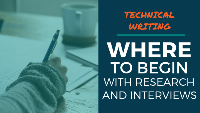 technical writing interviewing