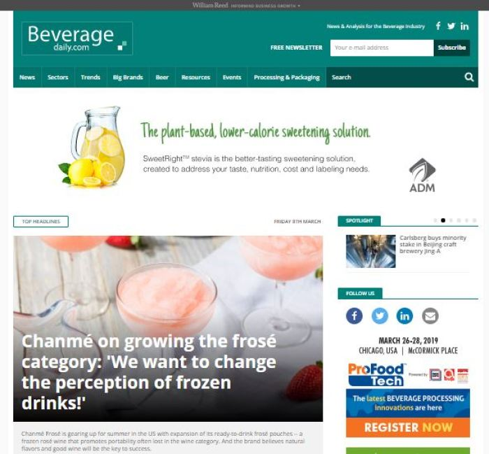 BeverageDaily homepage