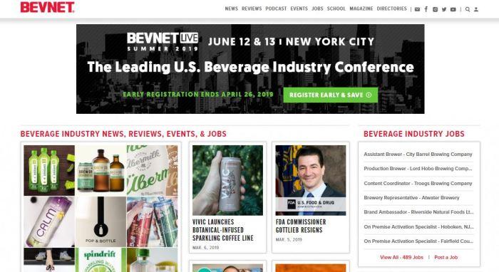 BevNET homepage