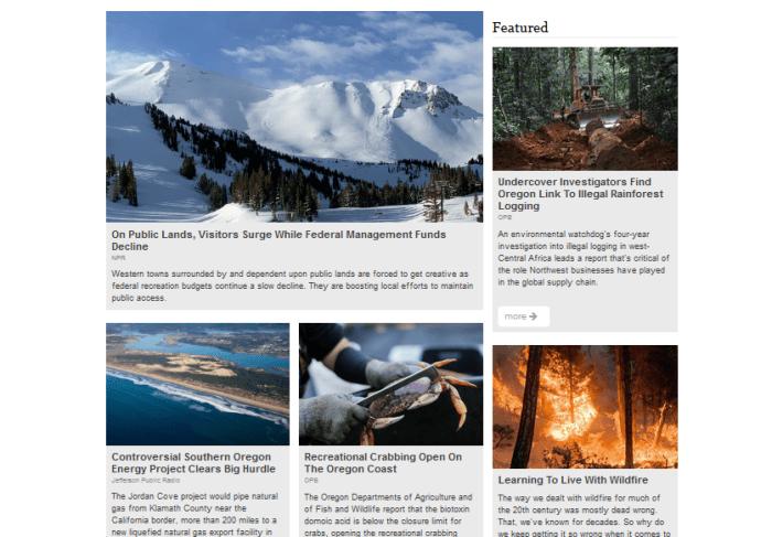Earthfix homepage