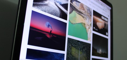 Selection of digital photos of nature viewed on a computer screen