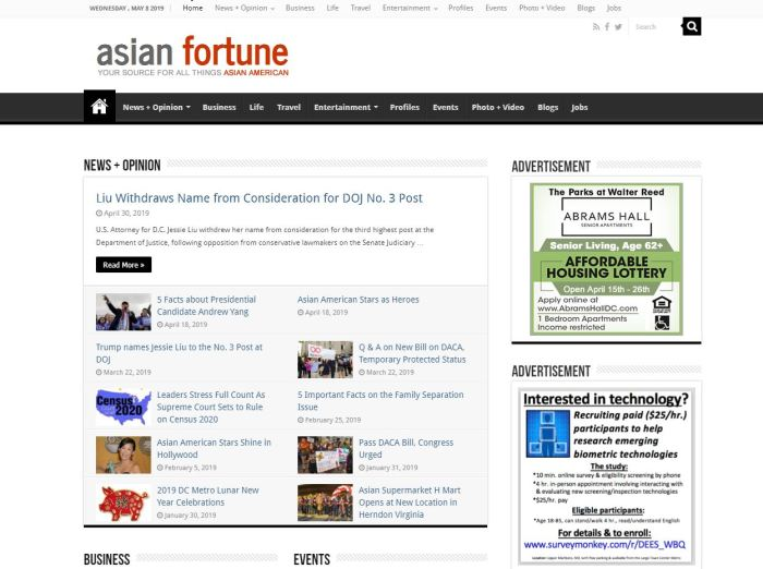Top Asian American News Sites: Asian Fortune