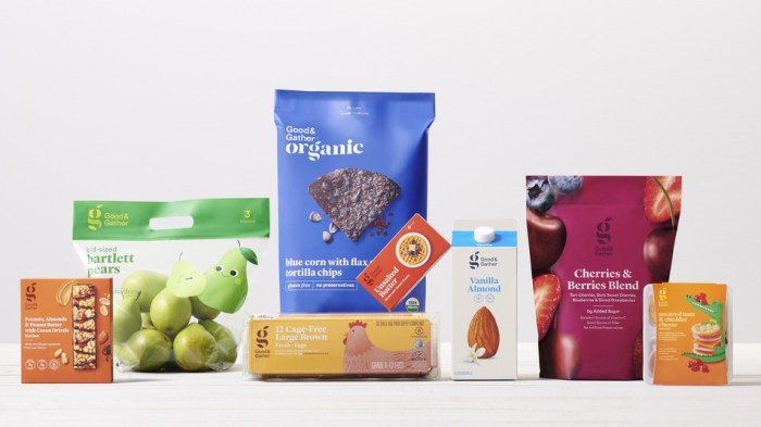 Target Good & Gather grocery products