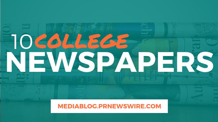 10 College Newspapers - mediablog.prnewswire.com