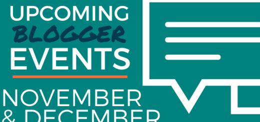 Upcoming Blogger Events - November and December 2019