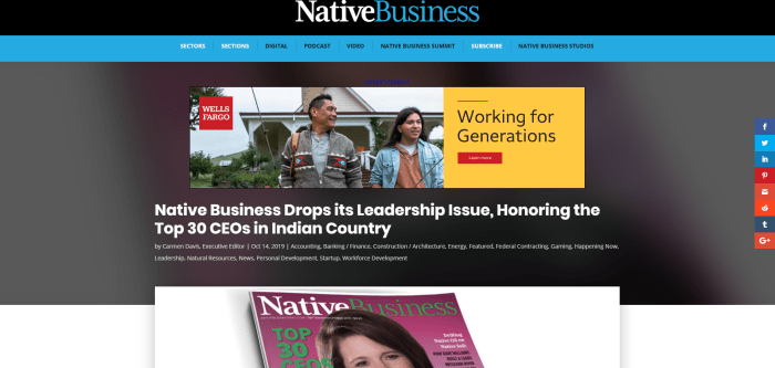 Top Native American News Sites - Native Business