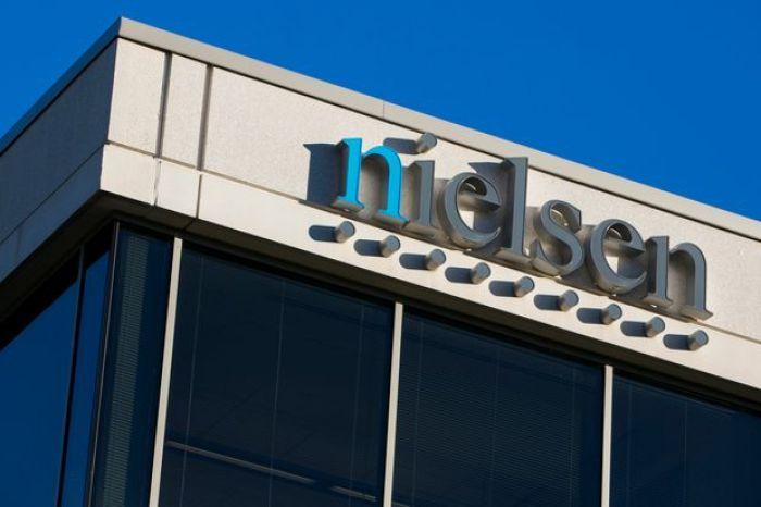 Nielsen logo on building exterior