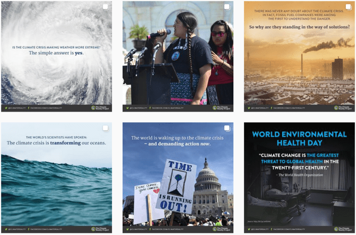 Climate Change Blogs We Love - @climatereality on Instagram