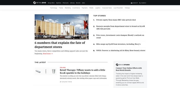 Top Retail News Sites - Retail Dive