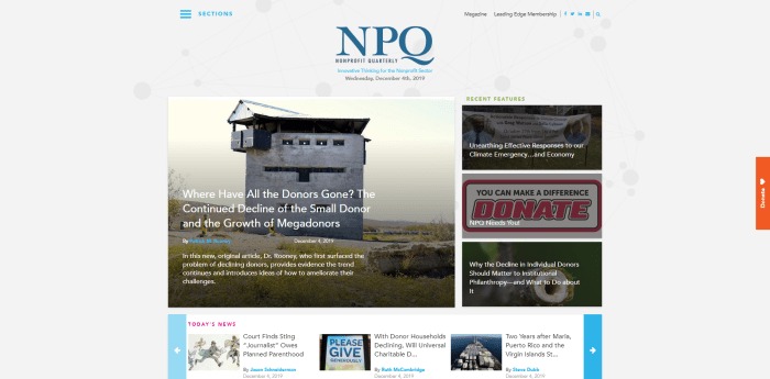 Top Philanthropy News Sites - Nonprofit Quarterly (NPQ)