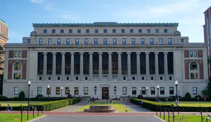 On PR Newswire - Feb 14 2020 - exterior photo of Columbia Business School