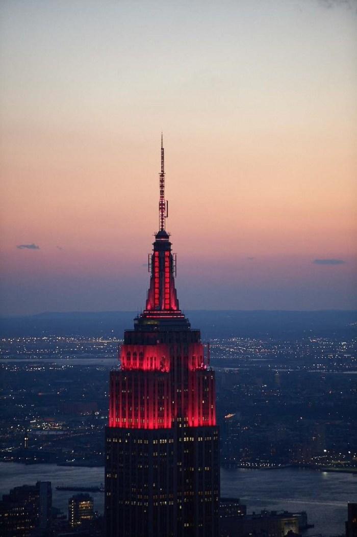 Empire State Building HeroesShineBright campaign