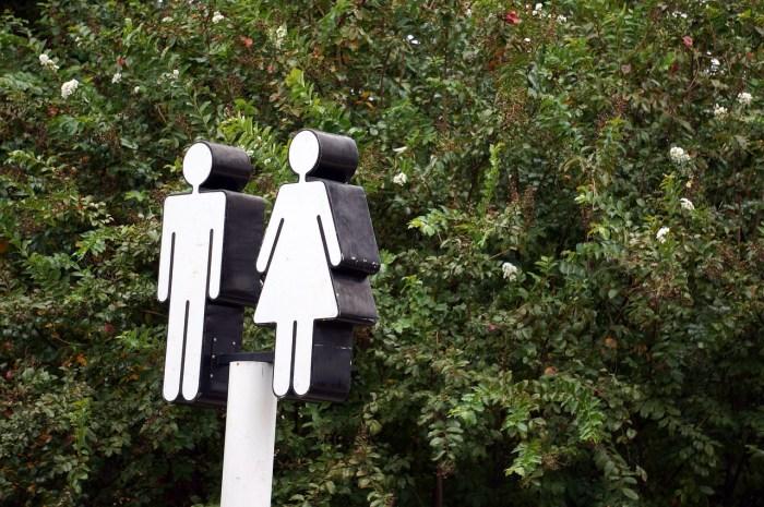AP Style Rules - gender restroom sign