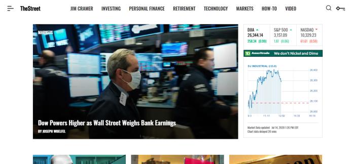 TheStreet homepage