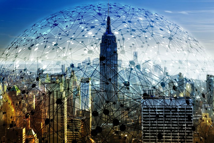 tech bubble over New York City