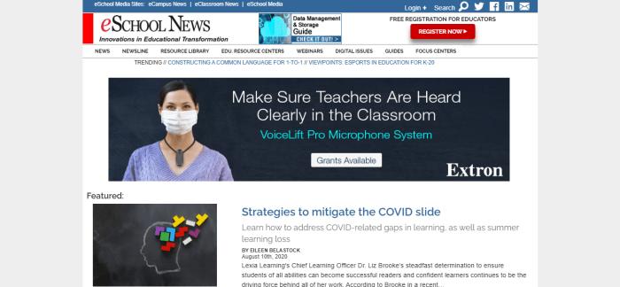 Top Education News Sites - eSchool News