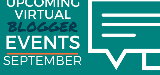 Upcoming Virtual Blogger Events - September 2020