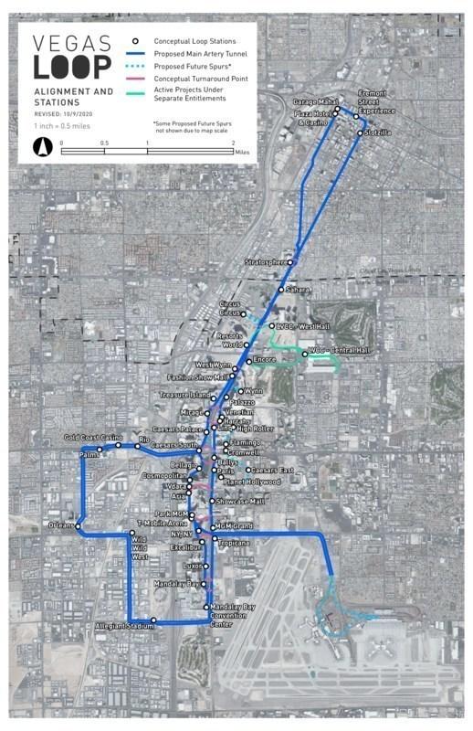 Vegas Loop concept map