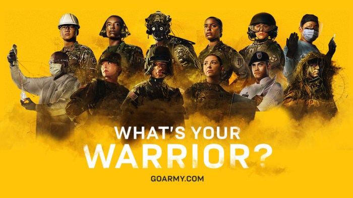 U.S. Army, What's Your Warrior? campaign poster