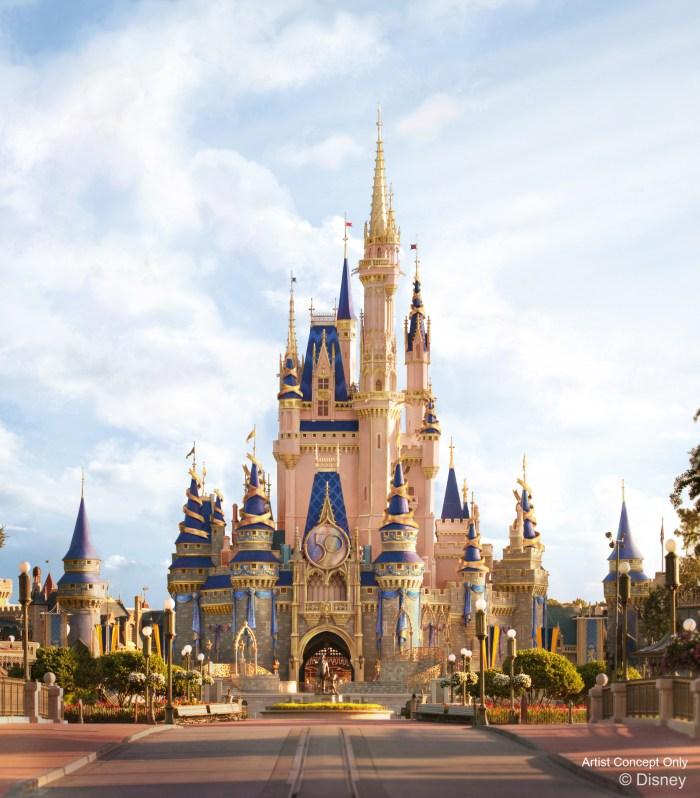 Walt Disney World Resort Cinderella Castle artist rendering