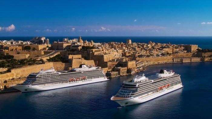 Photo of Viking Venus and Viking Sea cruise ships homeport in Valletta