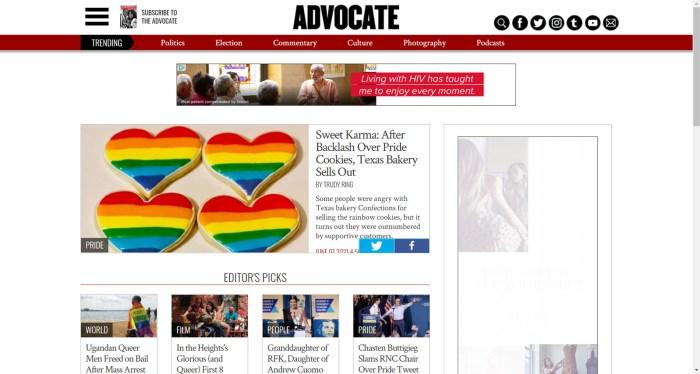 Advocate news site