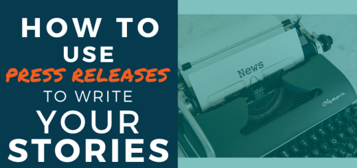 How to use press releases to write your stories
