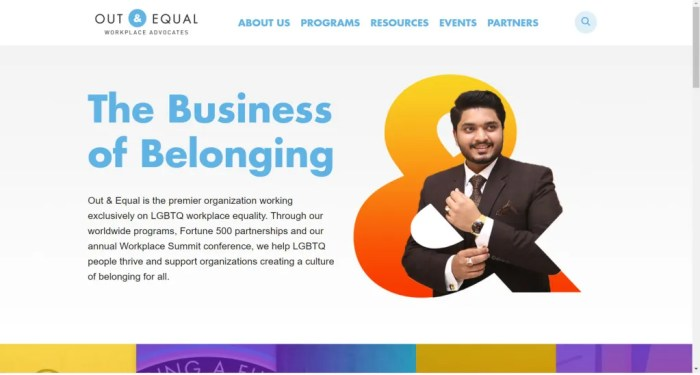 Out and Equal Nonprofit Website