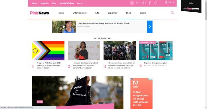 PinkNews LGBTQ News Site