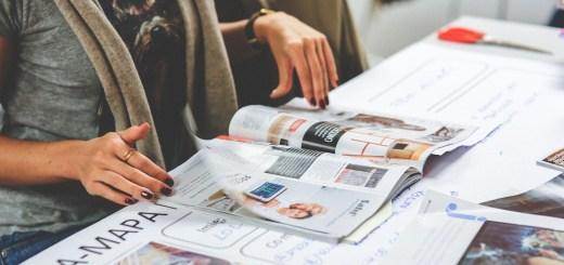 Woman reading a magazine