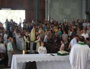 Entrada da imagem de Nossa Senhora de Fátima